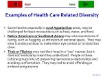 examples of health care related diversity37