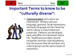 important terms to know to be culturally diverse32