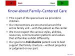 know about family centered care