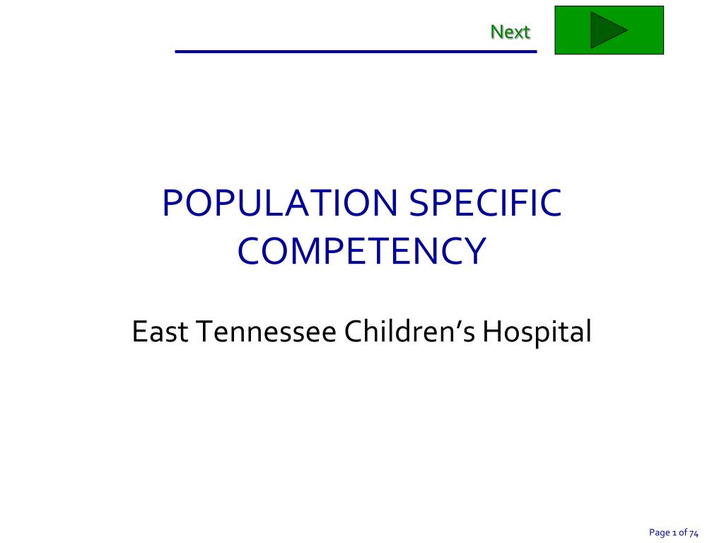 population specific competency l.
