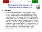 strategies to enhance coping developmental considerations11