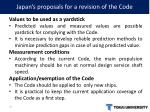 japan s proposals for a revision of the code14