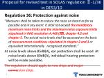 proposal for revised text in solas regulation 1 36 in de53 10