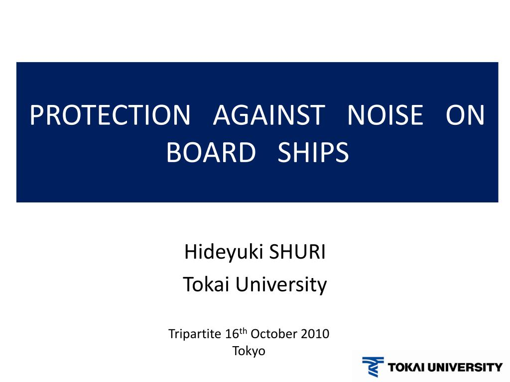 protection against noise on board ships l.