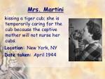 mrs martini