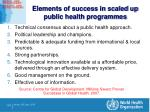 elements of success in scaled up public health programmes