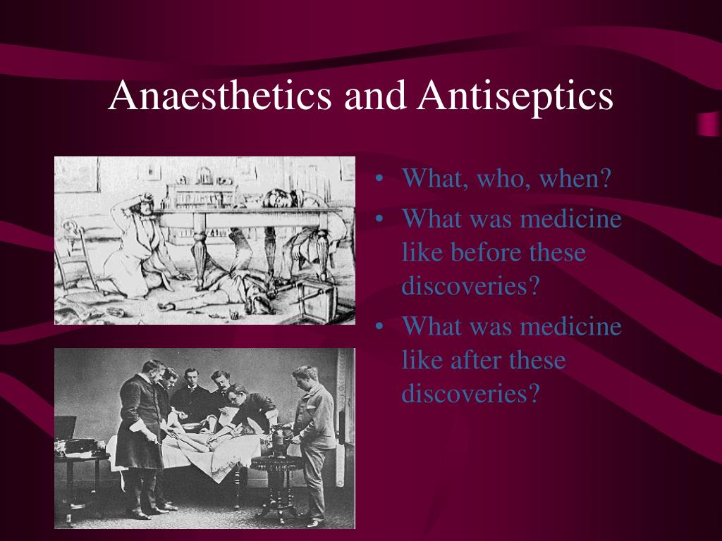 anaesthetics and antiseptics l.