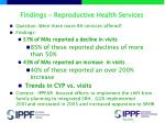 findings reproductive health services