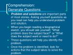 comprehension generate questions