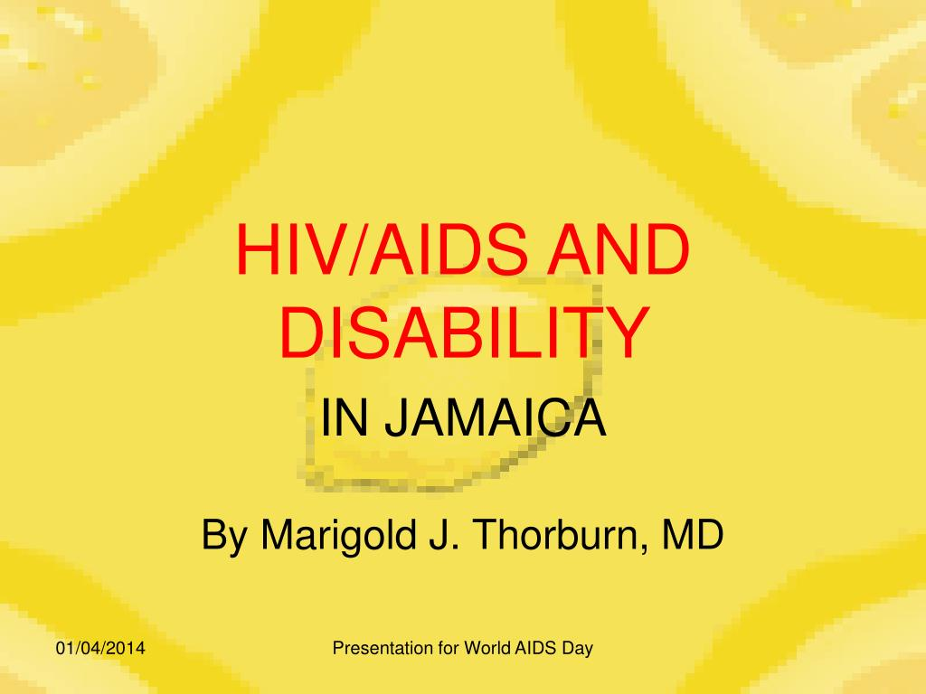 hiv aids and disability l.
