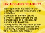 hiv aids and disability11