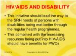 hiv aids and disability14