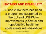 hiv aids and disability7