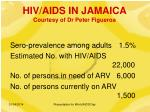 hiv aids in jamaica courtesy of dr peter figueroa