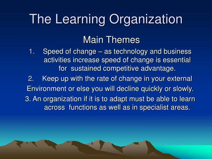 the learning organization n.