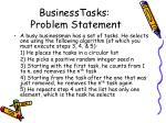 businesstasks problem statement