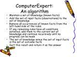 computerexpert an algorithm65