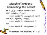 massivenumbers computing the result