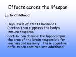 effects across the lifespan9