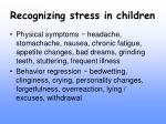 recognizing stress in children