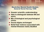 macarthur mental health module general social survey 1996
