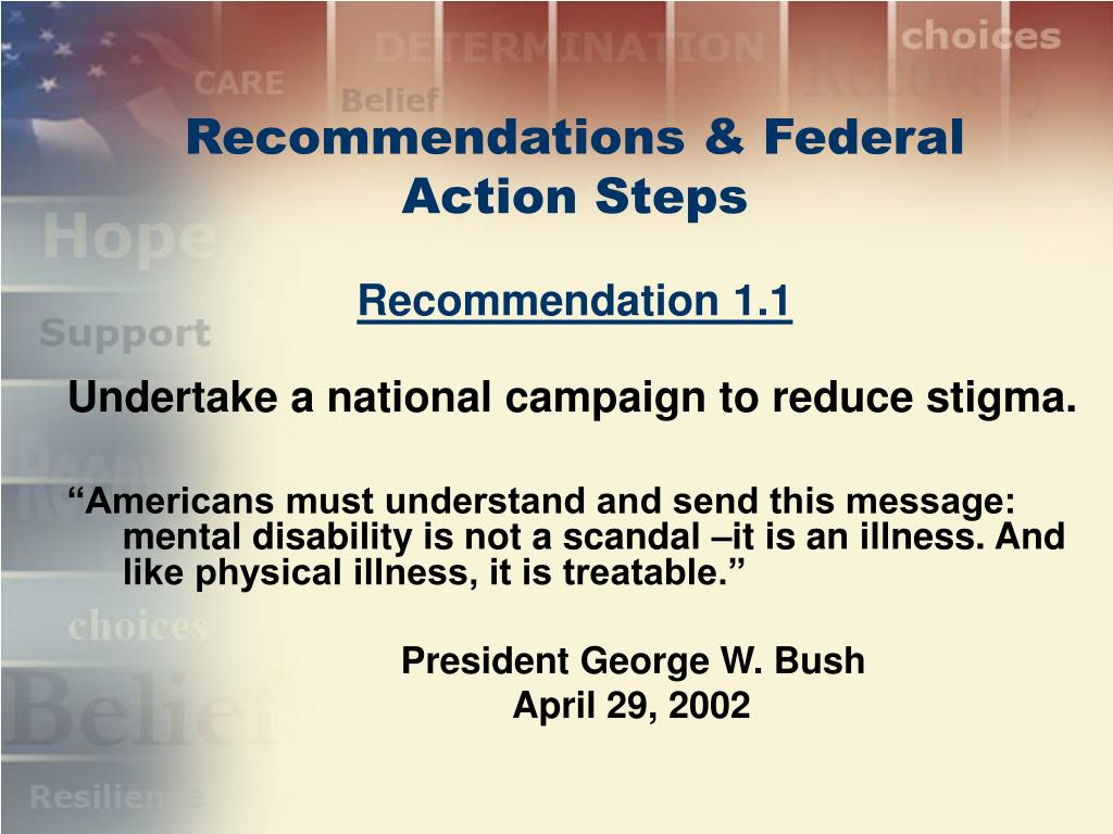 Recommendations & Federal Action Steps