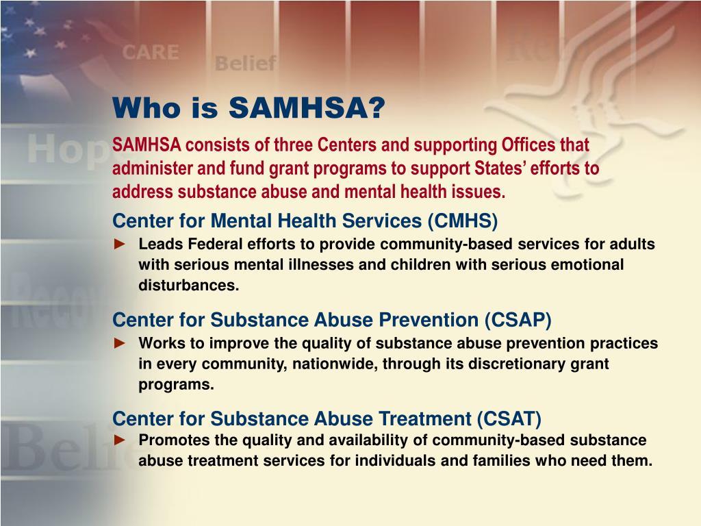 Who is SAMHSA?