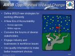 awib opportunities to lead change