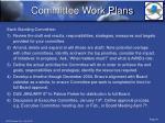 committee work plans