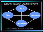 systems research organizing model