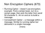 non encryption ciphers 673
