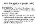 non encryption ciphers 674