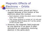 magnetic effects of electrons orbits