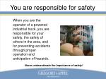 you are responsible for safety