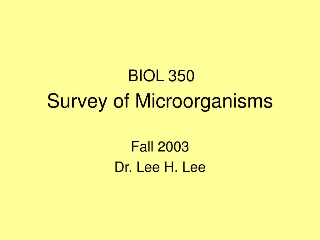 survey of microorganisms l.