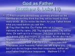 god as father matthew 6 luke 11