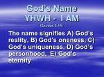 god s name yhwh i am exodus 3 14