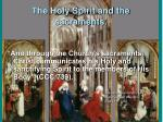the holy spirit and the sacraments