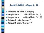 local nsclc stage i ii