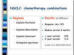 nsclc chemotherapy combinations