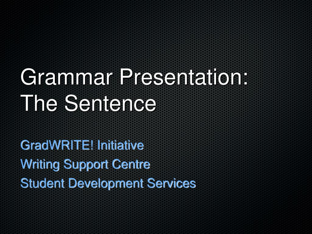 grammar presentation the sentence l.