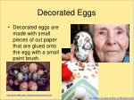 decorated eggs