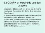 la cdaph et le point de vue des usagers