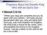 prophecy about the davidic king who will be god s son