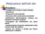 medicazione dell exit site40