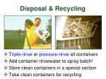 disposal recycling