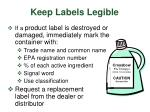 keep labels legible
