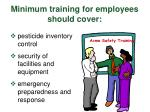 minimum training for employees should cover