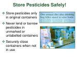store pesticides safely