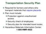 transportation security plan